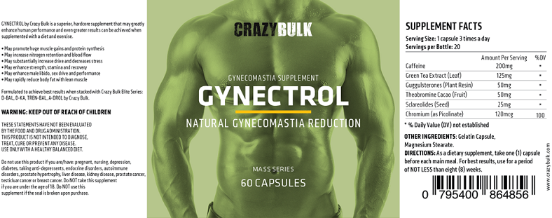 Gynectrol label with ingredients