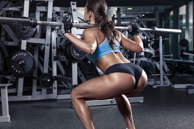 Dumbbell leg exercises - squats