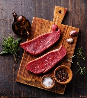 Meat is one of the foods to help gain weight