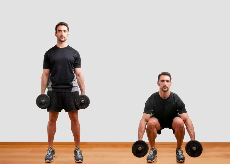 Free Weight Squats workout for beginners